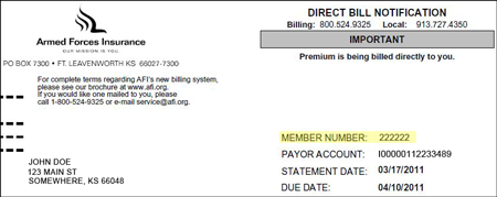 member number located on bill